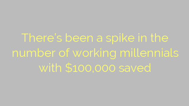 There's been a spike in the number of working millennials with $100,000 saved