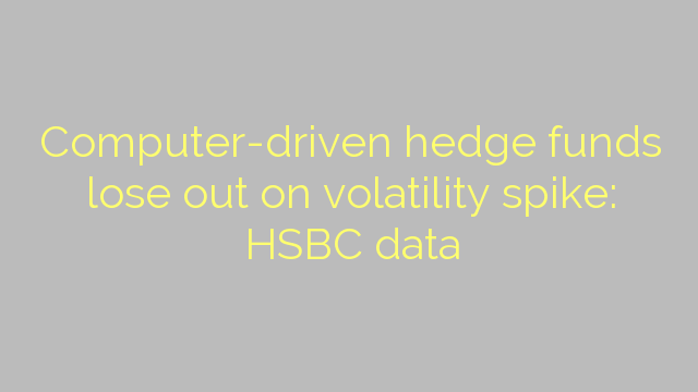Computer-driven hedge funds lose out on volatility spike: HSBC data