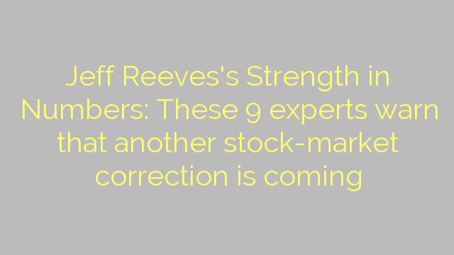 Jeff Reeves's Strength in Numbers: These 9 experts warn that another stock-market correction is coming