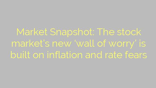 Market Snapshot: The stock market's new 'wall of worry' is built on inflation and rate fears