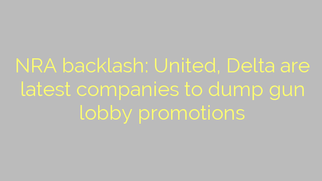NRA backlash: United, Delta are latest companies to dump gun lobby promotions