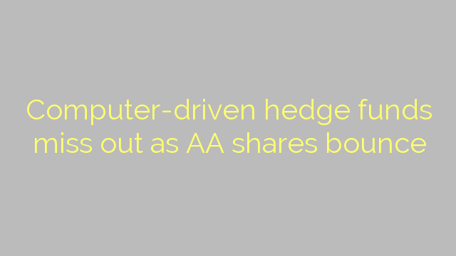 Computer-driven hedge funds miss out as AA shares bounce