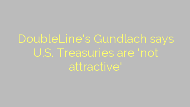 DoubleLine's Gundlach says U.S. Treasuries are 'not attractive'
