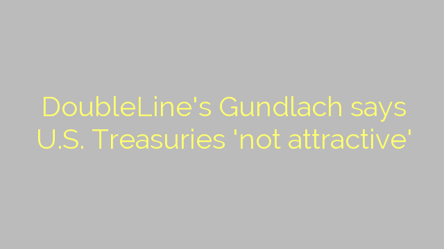 DoubleLine's Gundlach says U.S. Treasuries 'not attractive'