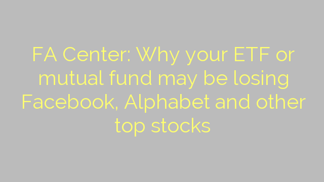 FA Center: Why your ETF or mutual fund may be losing Facebook, Alphabet and other top stocks