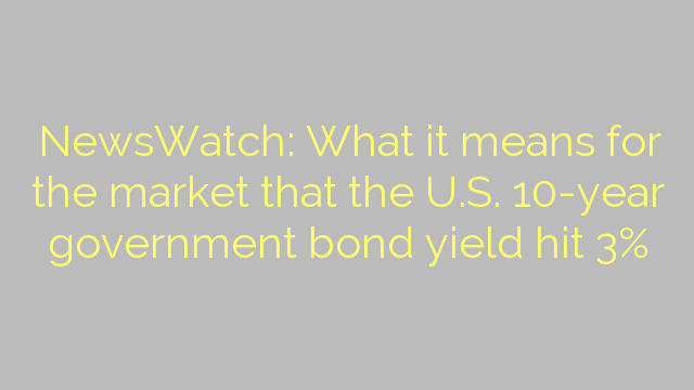 NewsWatch: What it means for the market that the U.S. 10-year government bond yield hit 3%