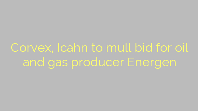 Corvex, Icahn to mull bid for oil and gas producer Energen