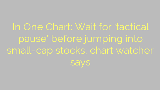 In One Chart: Wait for 'tactical pause' before jumping into small-cap stocks, chart watcher says