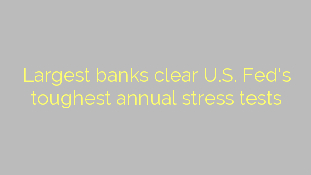 Largest banks clear U.S. Fed's toughest annual stress tests