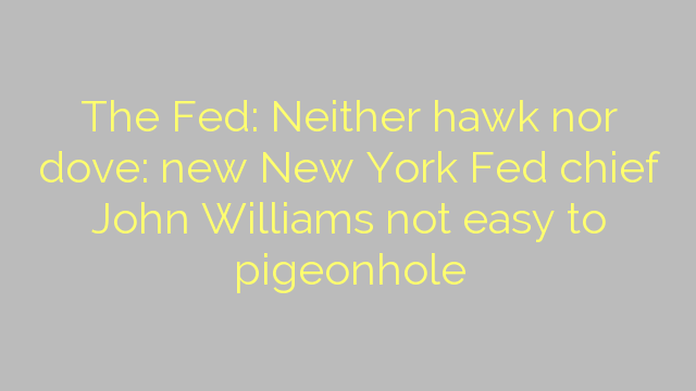 The Fed: Neither hawk nor dove: new New York Fed chief John Williams not easy to pigeonhole
