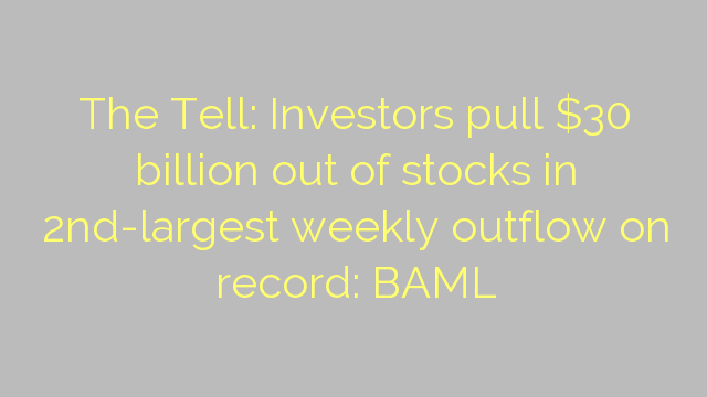The Tell: Investors pull $30 billion out of stocks in 2nd-largest weekly outflow on record: BAML