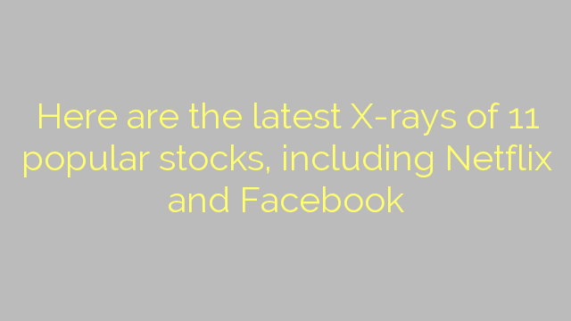 Here are the latest X-rays of 11 popular stocks, including Netflix and Facebook