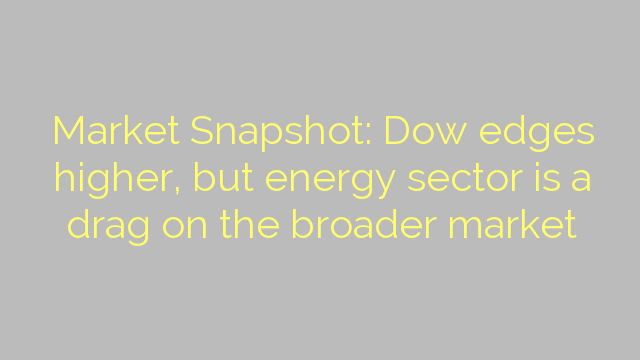 Market Snapshot: Dow edges higher, but energy sector is a drag on the broader market