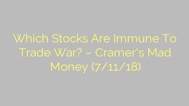 Which Stocks Are Immune To Trade War? – Cramer's Mad Money (7/11/18)