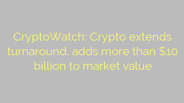 CryptoWatch: Crypto extends turnaround, adds more than $10 billion to market value