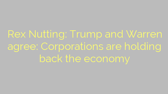 Rex Nutting: Trump and Warren agree: Corporations are holding back the economy