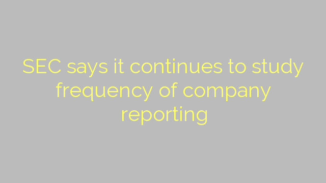 SEC says it continues to study frequency of company reporting