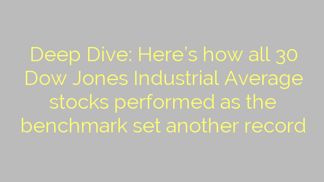 Deep Dive: Here's how all 30 Dow Jones Industrial Average stocks performed as the benchmark set another record