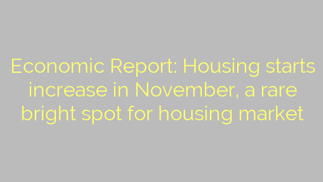 Economic Report: Housing starts increase in November, a rare bright spot for housing market
