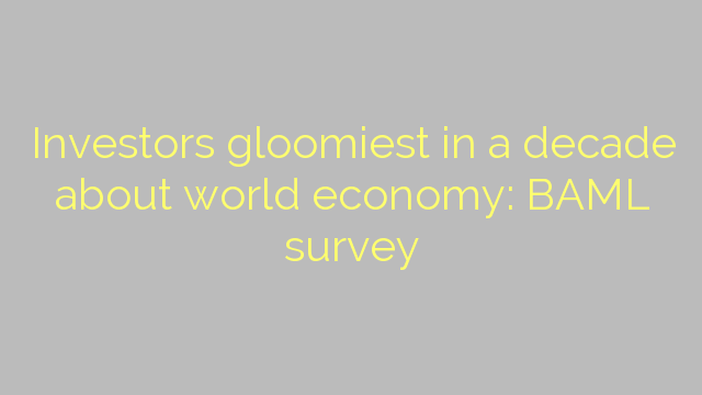 Investors gloomiest in a decade about world economy: BAML survey