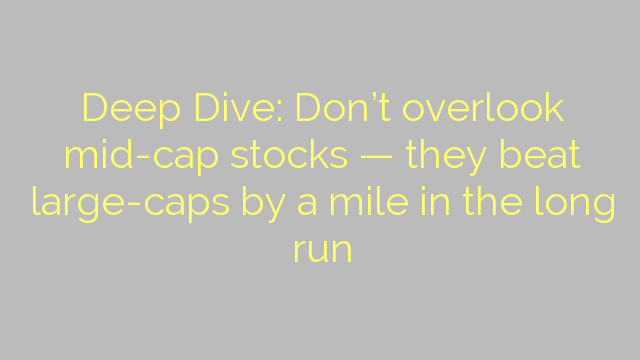 Deep Dive: Don't overlook mid-cap stocks — they beat large-caps by a mile in the long run