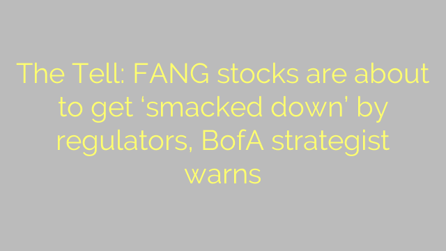 The Tell: FANG stocks are about to get 'smacked down' by regulators, BofA strategist warns