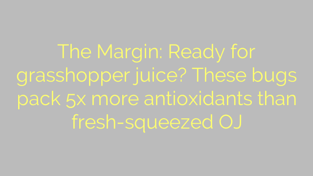 The Margin: Ready for grasshopper juice? These bugs pack 5x more antioxidants than fresh-squeezed OJ