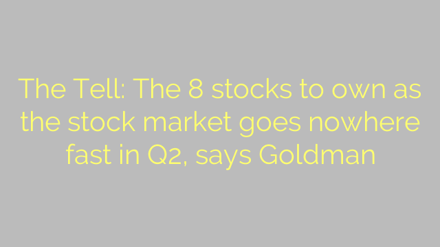 The Tell: The 8 stocks to own as the stock market goes nowhere fast in Q2, says Goldman