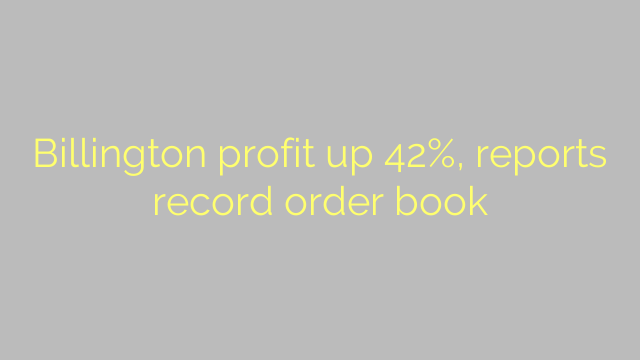 Billington profit up 42%, reports record order book