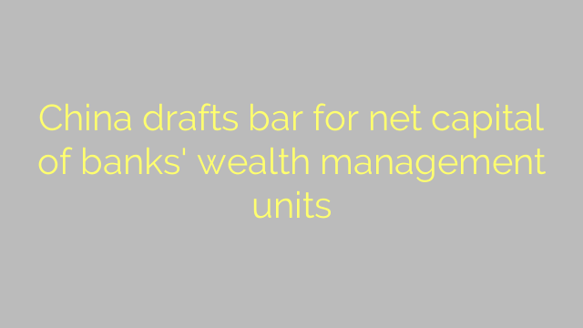 China drafts bar for net capital of banks' wealth management units