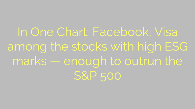 In One Chart: Facebook, Visa among the stocks with high ESG marks — enough to outrun the S&P 500