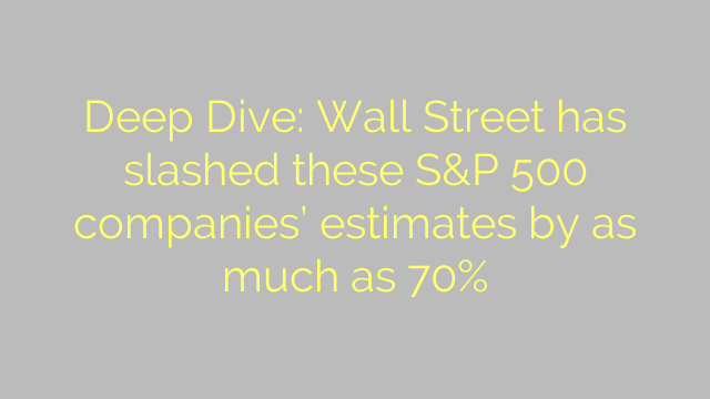 Deep Dive: Wall Street has slashed these S&P 500 companies' estimates by as much as 70%