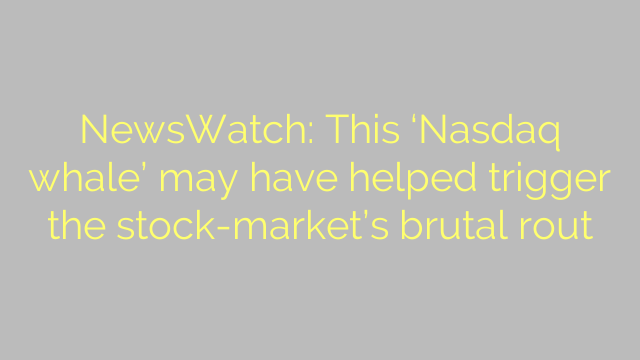 NewsWatch: This 'Nasdaq whale' may have helped trigger the stock-market's brutal rout