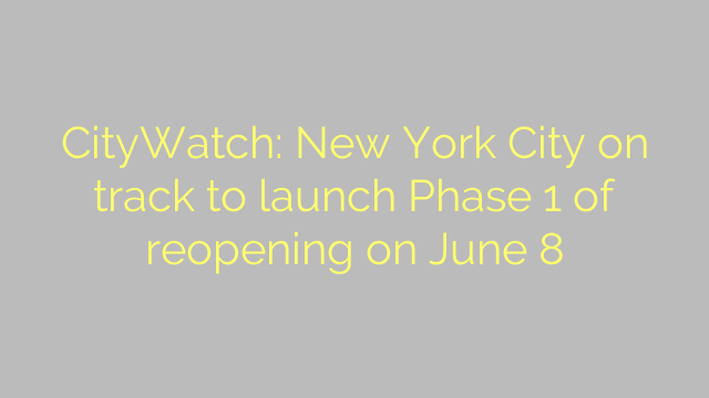CityWatch: New York City on track to launch Phase 1 of reopening on June 8