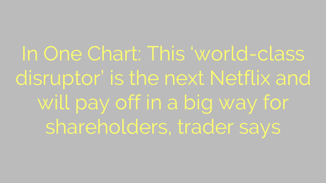 In One Chart: This 'world-class disruptor' is the next Netflix and will pay off in a big way for shareholders, trader says
