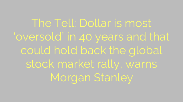 The Tell: Dollar is most 'oversold' in 40 years and that could hold back the global stock market rally, warns Morgan Stanley