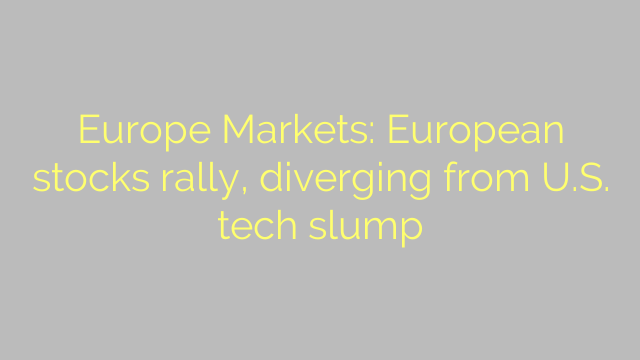 Europe Markets: European stocks rally, diverging from U.S. tech slump