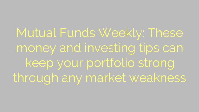 Mutual Funds Weekly: These money and investing tips can keep your portfolio strong through any market weakness